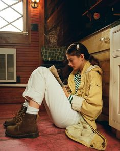 elf reads hemingway in a cabin in the woods by the beautiful