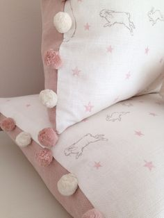 Rabbit All Star Cushions Oblong Cushions - Peony & Sage Girl Nursery, Girls Bedroom, Nursery Decor, Star Cushion, Cushion Pillow, Little Girl Rooms, Soft Furnishings, Bed Pillows, Kids Room