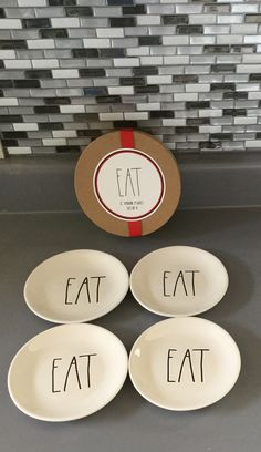 EAT Plate Set of 4 by Rae Dunn