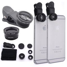 Waloo™ Zuntex Series 3-in-1 Universal Camera Lens for Smartphones - Fish Eye Lens, Macro Lens and Wide Angle Lens