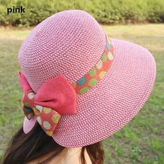 Bow wide brim straw hat for women summer wear