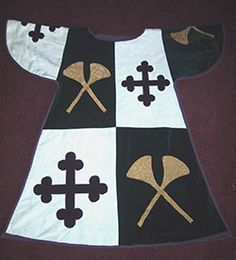 Tabard of the Bottony Pursuivant,Baronial Herald of St Florian de la Riviere