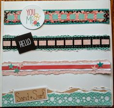 Shared by CMA Diana Brinsley. Features  Be Bold & Flourish paper and Slide-in Pack and the Shades of Neutral cardstock. Filmstrip and Bubbles cartridges.