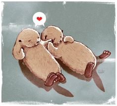 Did you know that otters hold hands while sleeping so they don't lose each other? Pretty sweet. :)