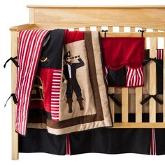 Sweet Jojo Designs Treasure Cove Pirate 9 pc. Crib Bedding Set If we have a little boy, then I so want this.
