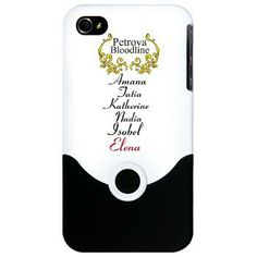 Petrova Bloodline iPhone Case The Potrova bloodline with Amana, Tatia, Katherine, Nadia, Isobel, and Elena are all decendents of eachother and super natural dopplegangers. Based on the fictional characters  $23.99
