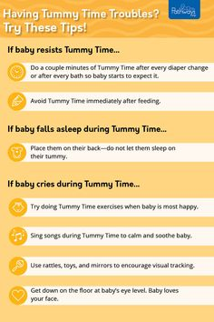 Are you experiencing #TummyTime troubles? It can be frustrating when baby isn't liking Tummy Time, but there are possible solutions! Try some of these if your baby is resisting Tummy Time, crying, or falling asleep. Remember, every baby is different and some may respond to these suggestions better than others. The important part is to keep trying! If you have any concerns, ask your healthcare provider. Learn more about Tummy Time at every age! Get Baby, Baby Love, After Bath, Need To Meet, Falling Asleep, Songs To Sing, Tummy Time, Baby Needs, Kid Activities