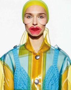 Plastic fashion.