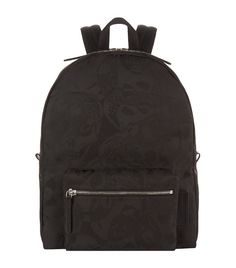 ALEXANDER MCQUEEN Skull Camouflage Jacquard Backpack. #alexandermcqueen #bags #leather #canvas #backpacks #polyester #