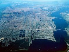 Cape Coral, Florida aerial view.
