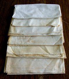 Set of 6 Antique Linen Banquet Napkins. c1920 by chalcroft on Etsy, $12.00
