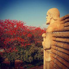 #voortrekkermonument #monument #artdeco #architecture #red #tree #sculpture