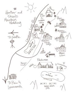 simple hand-drawn map for booklet