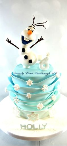 Olaf Cake - Cake by Heavenly Treats by Lulu - Frozen cakes Disney Frozen Cake, Frozen Theme Cake, Frozen Themed Birthday Party, Disney Cakes, Cupcakes, Cupcake Cakes, Olaf Cake, Cupcake Cake Designs, 6th Birthday Cakes