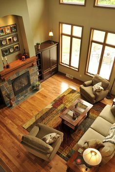 natural hickory flooring stained trim - Google Search
