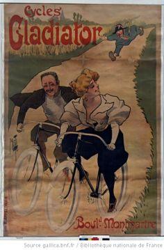 Cycles Gladiator, Bould Montmartre : [affiche] / [Misti]  Auteur : Misti (1865 -1922). Illustrateur. 1895