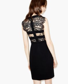 Dress with lace panels - Dresses - The Kooples