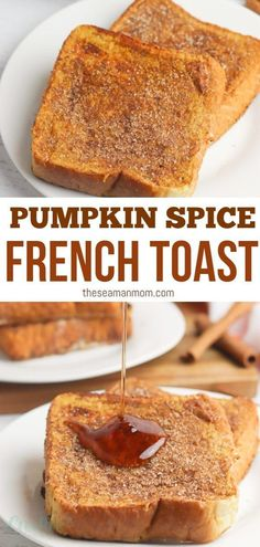 French toast is a delicious breakfast option no matter the season. But when you add pumpkin to the mix, it becomes a must-have fall treat. And when you add a delicious cinnamon sugar coating on your o Oven Baked French Toast, French Toast Bake, Breakfast Options, Breakfast Recipes, Breakfast Muffins, Mini Muffins, Diet Breakfast, Muffin Recipes, Pumpkin Recipes