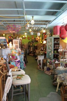 Ginny n Jane E's is the best place to browse shabby chic decor and beach chachkies while grabbing a coffee