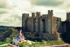 Óbidos castle and the disney castle. cute