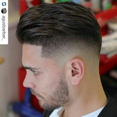 Men's Hair, Haircuts, Fade Haircuts, short, medium, long, buzzed, side part, long top, short sides, hair style, hairstyle, haircut, hair color, slick back, men's hair trends, disconnected, undercut, pompadour, quaff, shaved, hard part, high and tight, Mohawk, trends, nape shaved, hair art, comb over, faux hawk, high fade, retro, vintage, skull fade, spiky, slick, crew cut, zero fade, pomp, ivy league, bald fade, razor, spike, barber, bowl cut, 1960, hair trend 2015, men, women, girl, boy