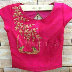 Kurti Embroidery Design, Embroidery Neck Designs, Kids Blouse Designs, Saree Blouse Designs, Hand Work Design, Maggam Work Designs, Crop Dress, Designer Blouse Patterns, Collor