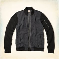 Guys Costa Mesa Bomber Sweatshirt | Guys Tops | HollisterCo.com