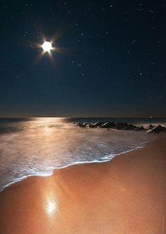 Ocean Moonrise, Vilano Beach, Florida.........