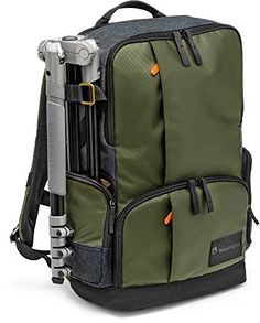 This backpack can carry a ton of camera equipment in the compartment that is built in, and then can be expanded with items such as an Ape Case to hold even more gear. You are able to carry a Tripod on the side, store SD and CF cards in the front pockets, and on the interior carry a Laptop and store 3-4 SSD external hard drives along with cleaning equipment. Great tool for anyone traveling for sure because you are able to fit it all comfortably.