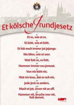 Poster 'Kölsches Grundgesetz'. - Der KölnShop