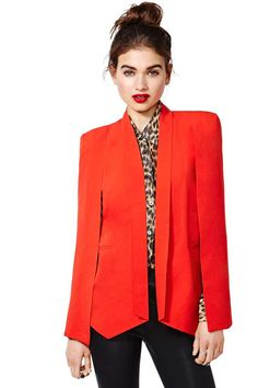 She seems to love blazers so I though this was perfect as it's definitley a pop of color and it doesnt really have that collar at the top which she seems not like lol. This blazer kind of acts as a cape, so she just would drape it over her shoulders...very chic!