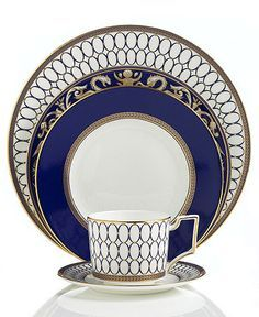 "Wedgwood ""Renaissance Gold"" Dinnerware Collection - Wedgwood Fine China Dinnerware - Dining & Entertaining - Macy's Fine China Dinnerware, Dinnerware Sets, Renaissance, Wedgewood China, China Sets, Dinner Sets, Dinner Ware, Dinner Plates, Royal Copenhagen"