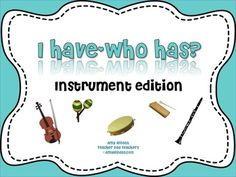 I Have/Who Has? Game: Musical Instruments **GREAT for your sub tub!!!