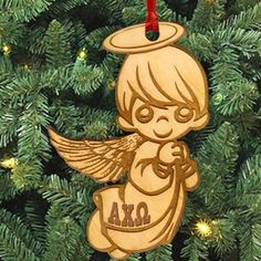 Gamma Sigma Sigma laser-engraved angel ornament with Greek letters. Ornament is Natural Basswood and is approximately, inches. Rush service is available for of the total price. This service can be selected during the checkout process. Gamma Sigma Sigma, Alpha Epsilon Phi, Zeta Phi Beta, Alpha Chi Omega, Alpha Sigma Alpha, Delta Sorority, Phi Mu, Delta Gamma, Sorority Life