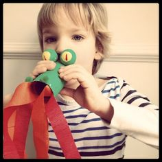 Little Inspirations: alphabet inspiration Fire breathing dragon made from a bath tissue roll!