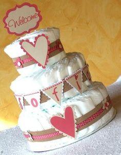 torta pannolini bimba