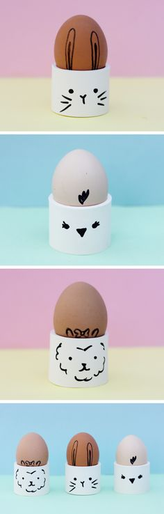 DIY springy egg cups, these are so easy to make and super cute! Fun Crafts, Arts And Crafts, Making Connections, Egg Cups, Hoppy Easter, How To Make Breakfast, Egg Decorating, Making Memories, Spring Crafts