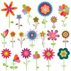 cartoon flowers clip art flower garden stock vector basheera