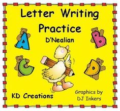 This handwriting set gives your young students a positive and fun experience in letter writing.  Included is a page for each letter of the alphabet in both upper and lower case. Each page shows how the letter is formed and provides a row of dotted letters for the student to trace, as well as two rows to practice independently. It also provides two words to copy which begin with the targeted letter and delightful pictures to illustrate the words.