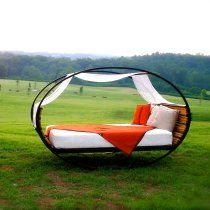Mood Rocking Bed made from upcycled materials... Suddenly I want to sleep outside.