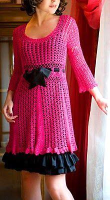 Vestido precioso de crochet