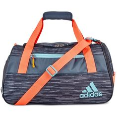 adidas Squad Iii Duffel Bag (52 CAD) ❤ liked on Polyvore featuring bags, luggage and dark grey