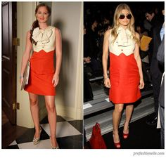 Marc By Marc Jacobs Alessandra Pussy Bow Red & Cream Dress Sz 2 XS Gossip Girl #MarcbyMarcJacobs #Sheath