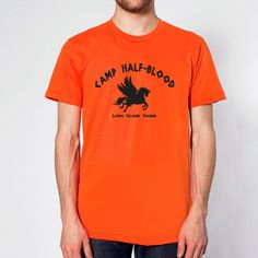 Camp Half-Blood Tee Halloween costume halfblood book story movie Percy Jackson boys new MENS ORANGE T-SHIRT  Ask a Question $8.90 USD