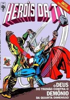 """Edição lançada em fevereiro de 1986, trazendo John Buscema em dose dupla: Thor na """"Batalha na Nebulosa Negra"""" e Os Vingadores enfrentando """"A fúria do Ciclone"""".Ainda Luke Cage desenhado por John Byrne."""