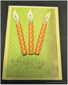 Födelsedagskort: pengaljus
