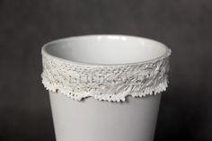 - porcelain decoration by lace Lace Vase, Rococo, Porcelain, Pure Products, Elegant, Luxury, Decoration, Jewelry, Fashion