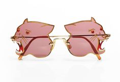 Vintage 1970s amazing fierce panther sunglasses