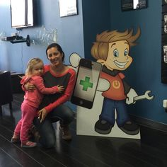 Aawww...what a cutie! Isn't Chip Gadget a doll? Ooo...I mean look at the cute one next to Danielle Hubrich. She stopped by @normalgadgets to get her iPad 3 screen repaired today in Bloomington. #blono #chipgadget #getbacktonormal #wefixit