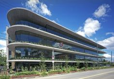 Building Facade, Facade Design, Japanese Design, Architect Design, Green Plants, Modern Architecture, Tower, Construction, Exterior